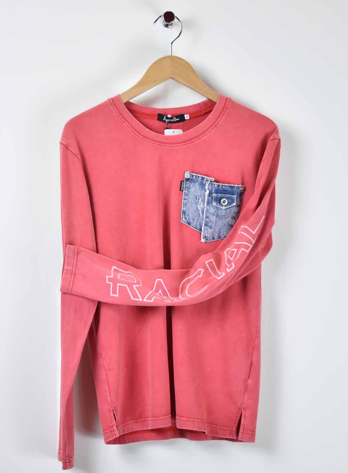 ROGER&RAW デニポケクルーTシャツ