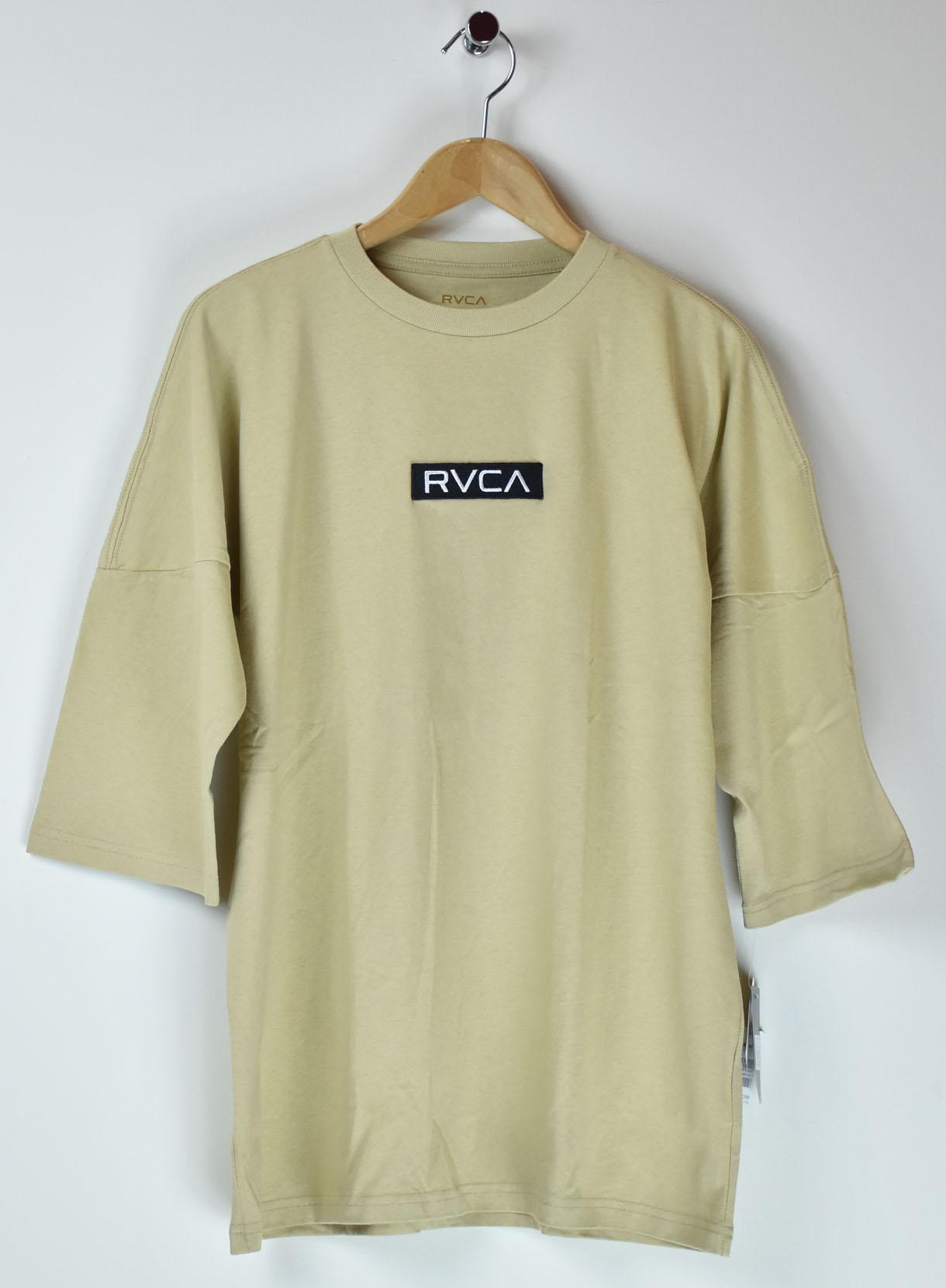 RVCA フロントワッペン7分Tシャツ