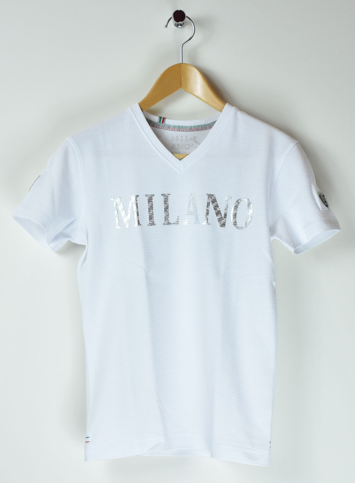 VIOLAスタンプ箔プリントTシャツ