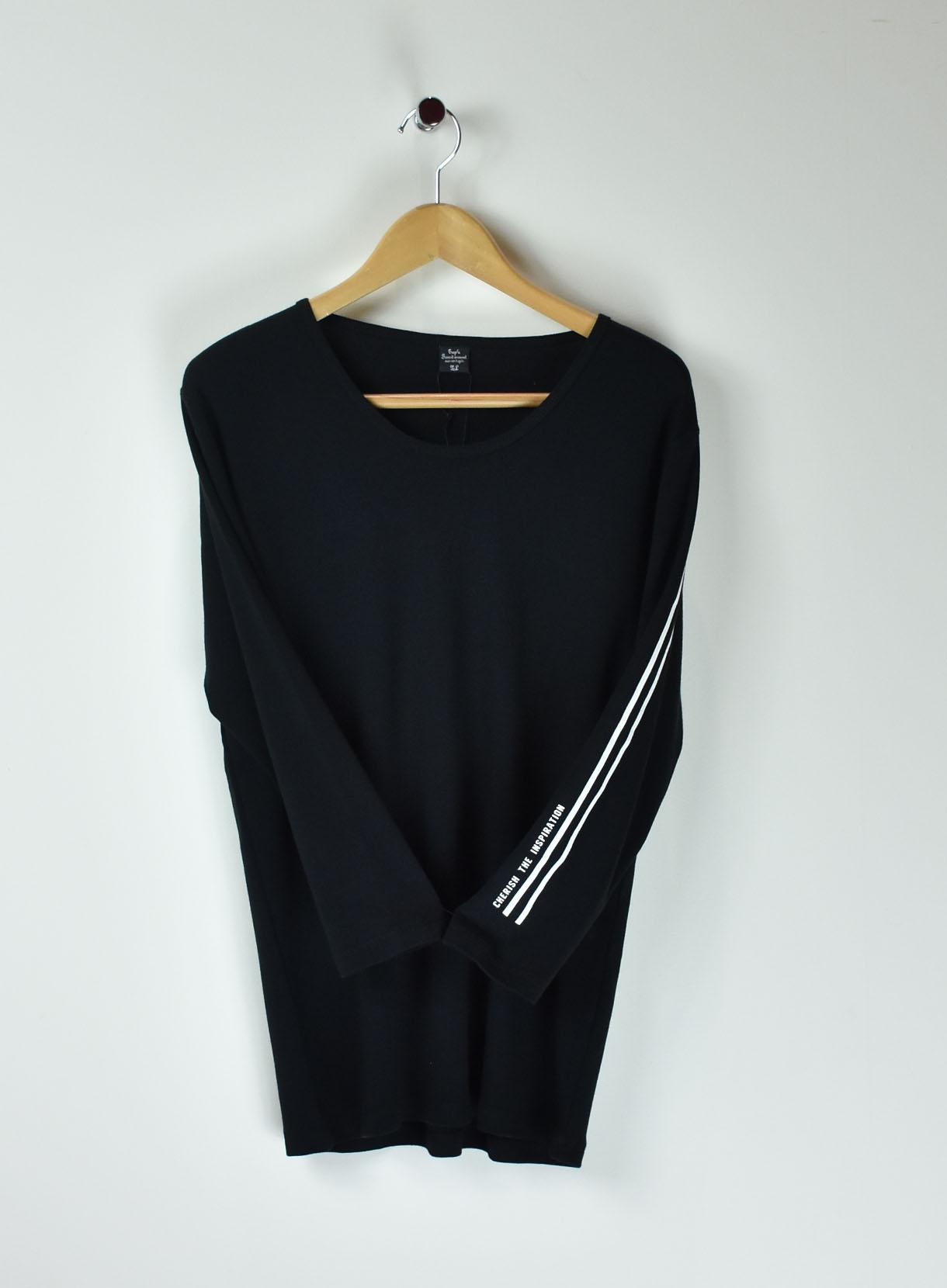 7分袖プリントTシャツ(レイヤード用)