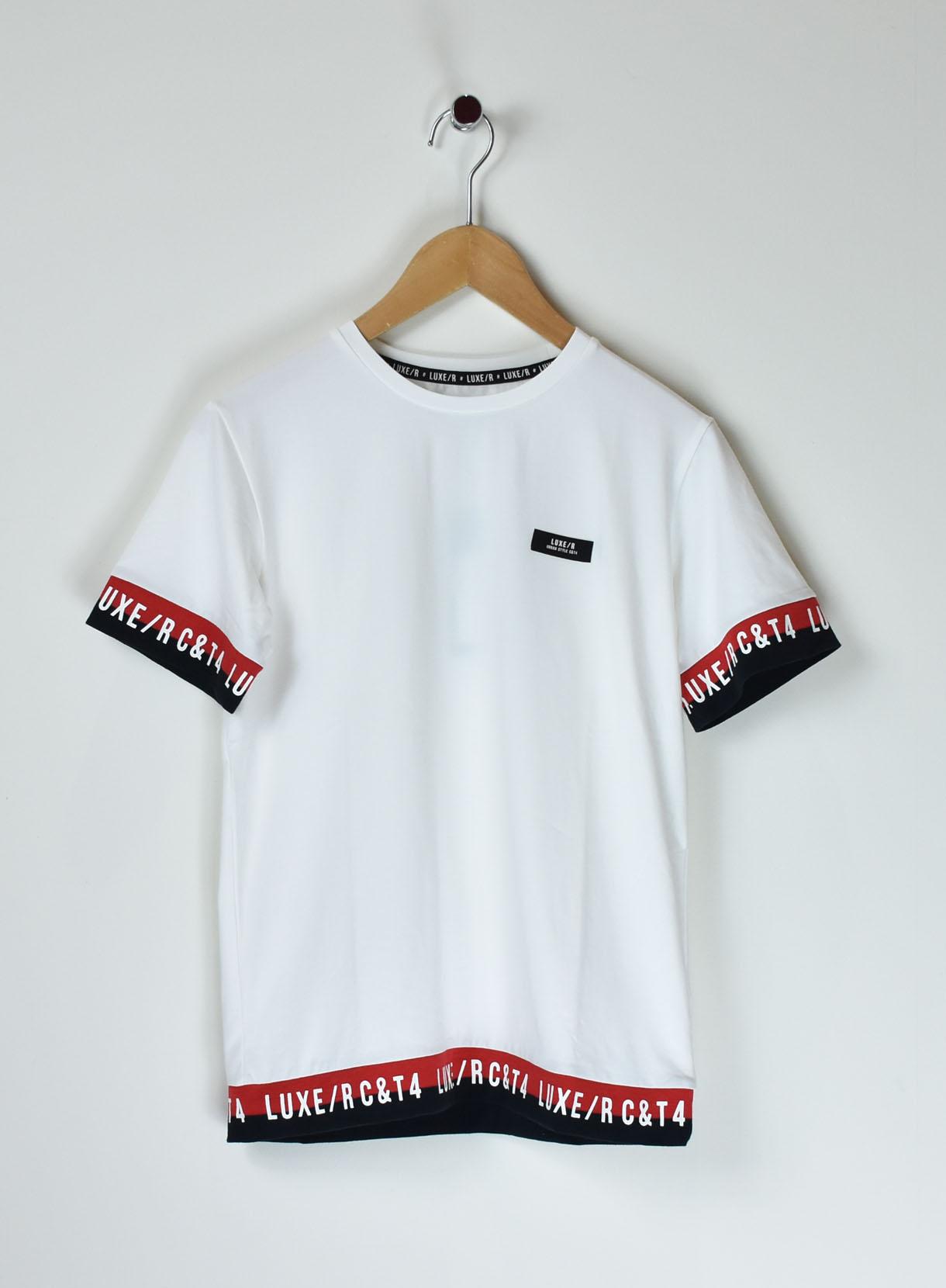 裾ラインテープTシャツ