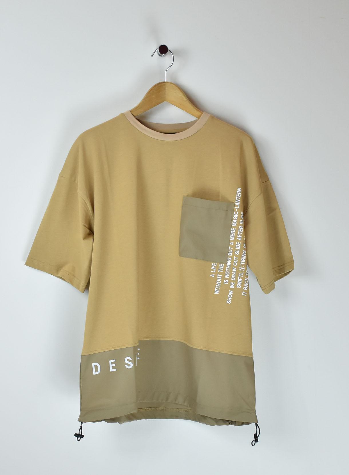 裾切替BIGTシャツ