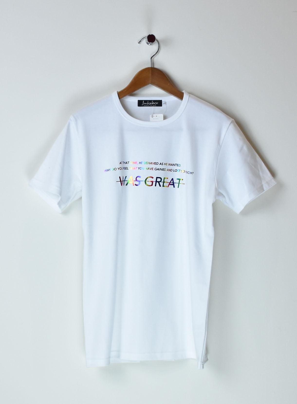 JUKEBOX 国産スムースTシャツ(レインボーWAS)