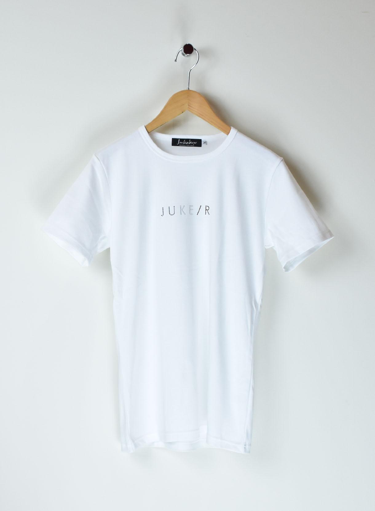 JUKEBOX SWAROVSKI Tシャツ(フロント JUKE/Rトリコロール小柄)