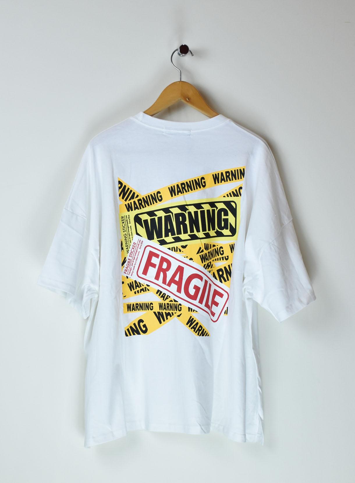ROGER&RAW WARNINGロゴTシャツ