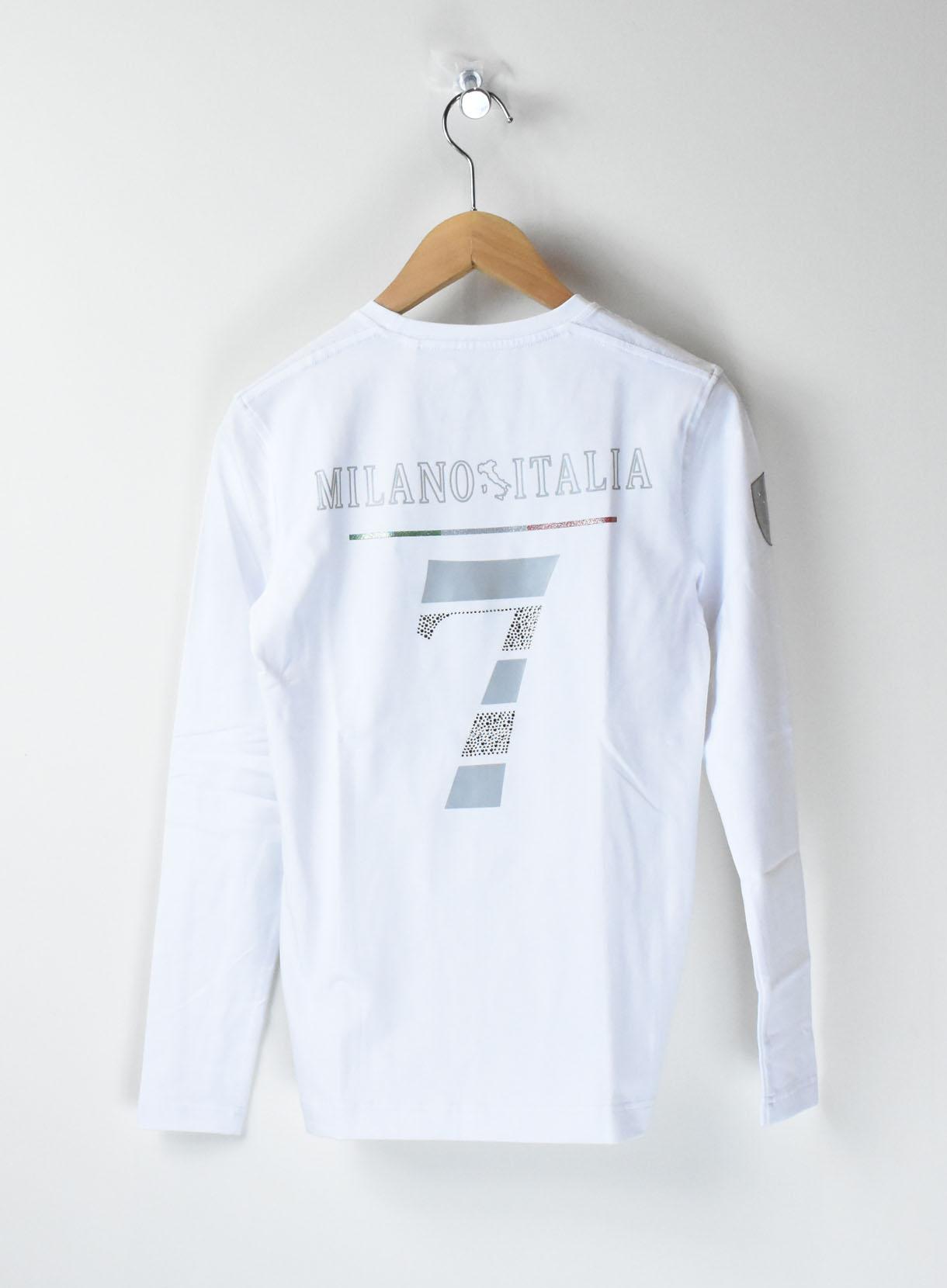 VIOLAラインストーンロゴクルーTシャツ