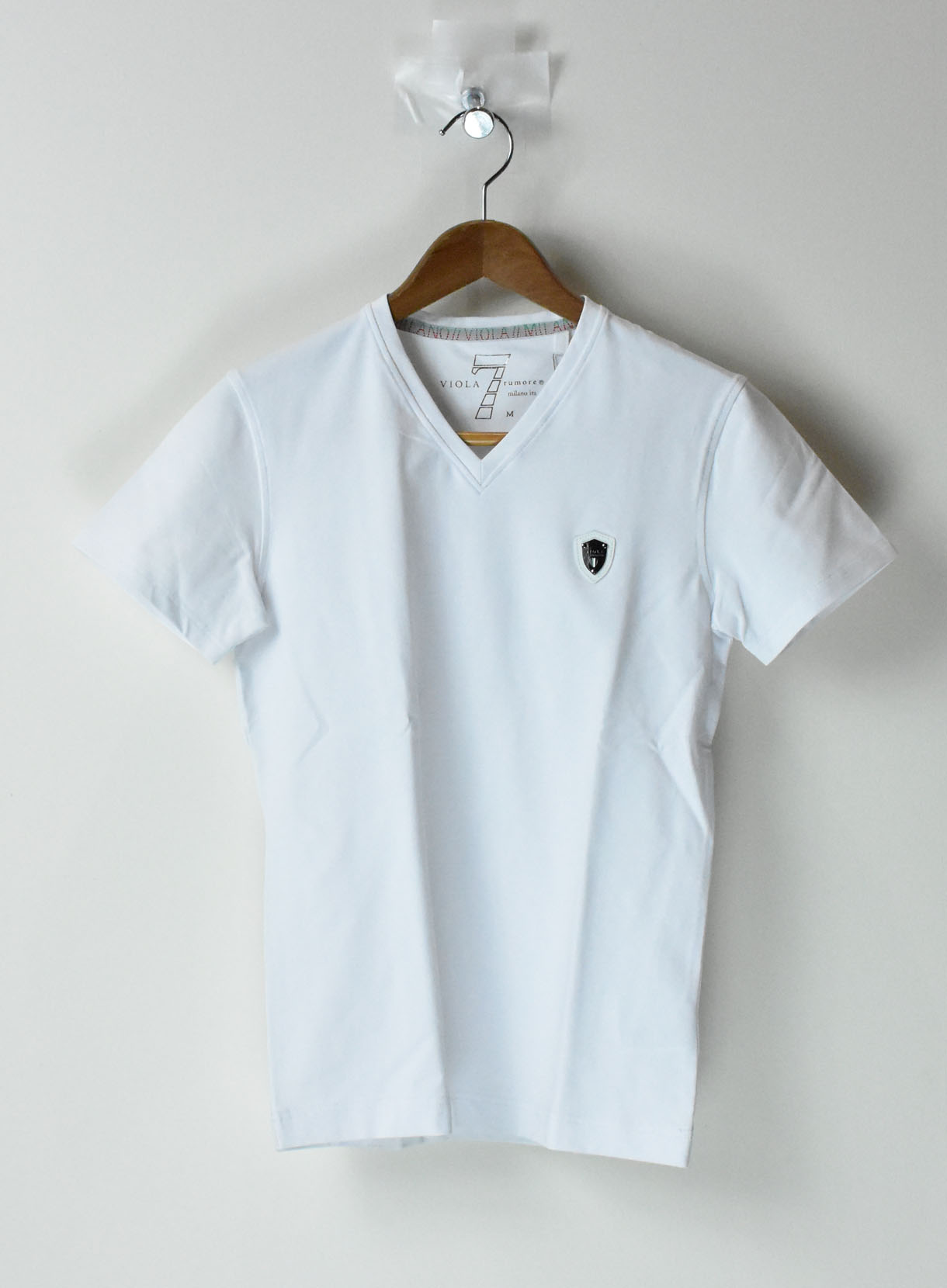 VIOLA無地Tシャツ(Vネック)