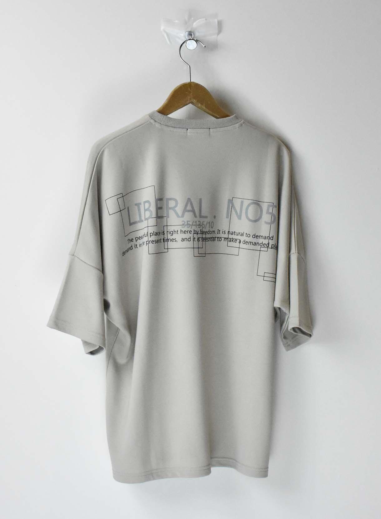 リフレクタープリントドルマンTシャツ