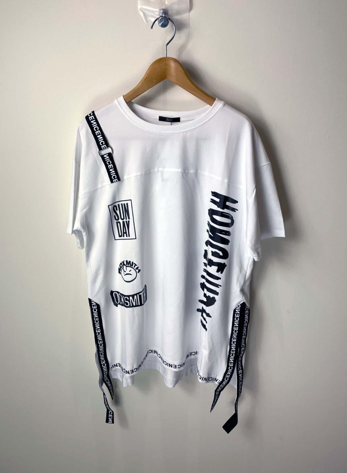 裾テープ貼り付けTシャツ