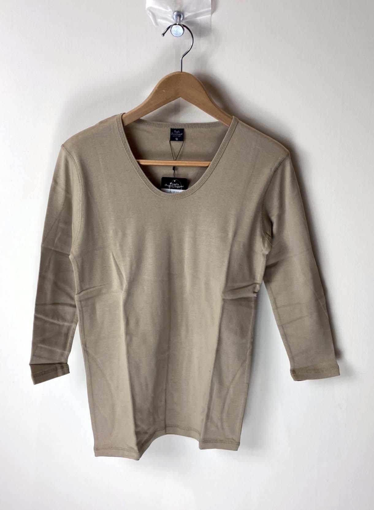 7分袖Tシャツ(レイヤード用)